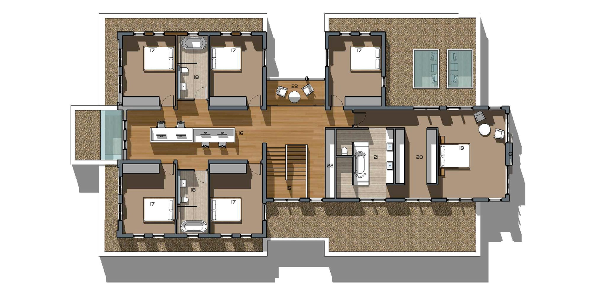 Emberlee 6 Bedroom First Floor Plan